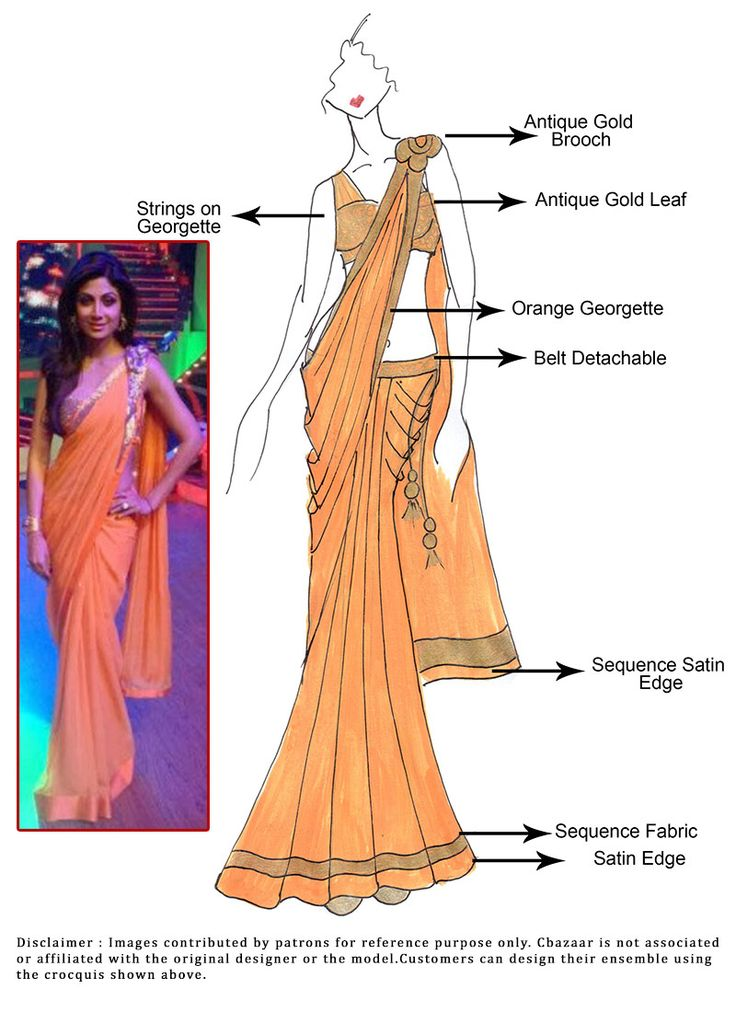 #DIY #ShilpaShetty #Orange #Butterfly #Saree