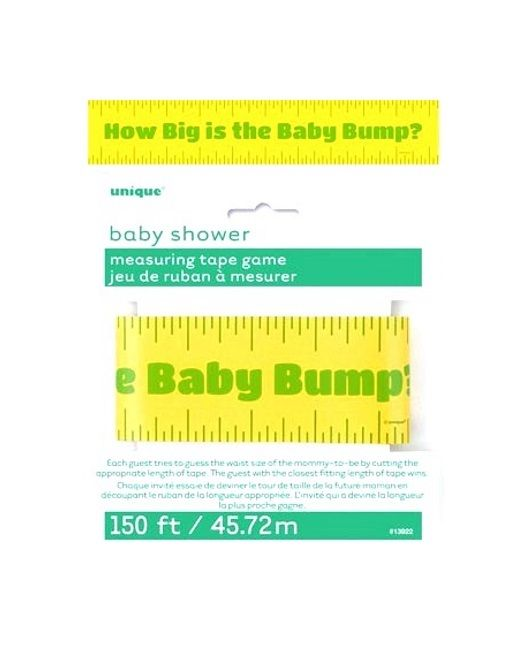 How Big Is The Baby Bump? Tummy Tape Measure Baby Shower Party Game