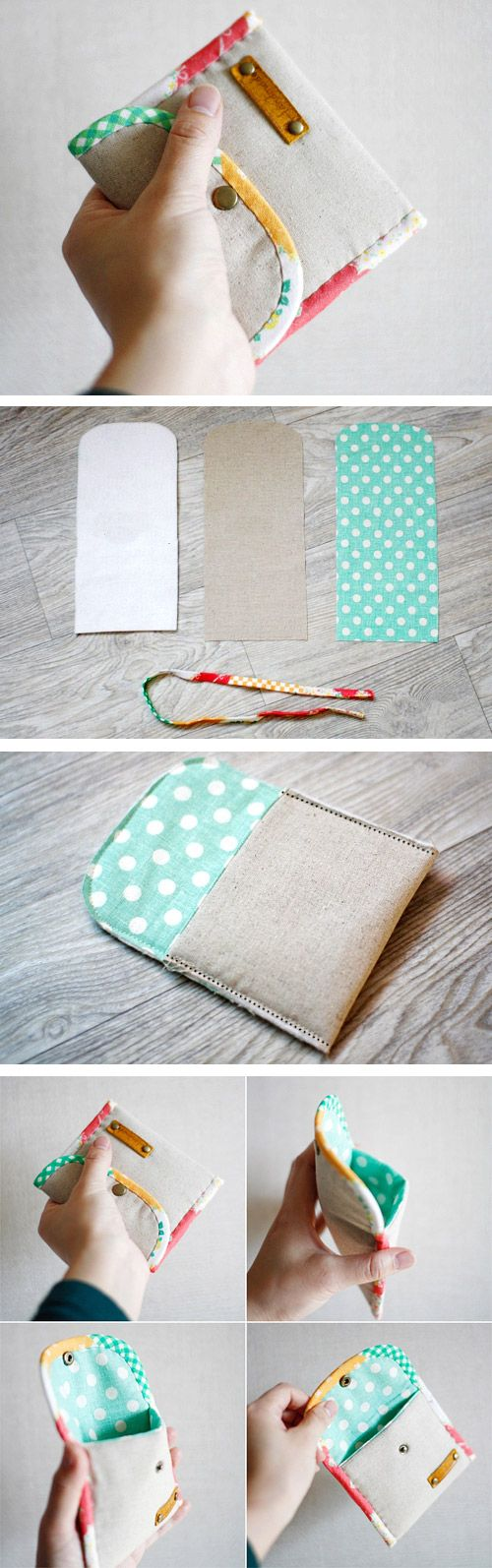 Coin Purse DIY tutorial in pictures. What a cute and simple idea. http://www.handmadiya.com/2015/10/easy-padded-coin-purse-tutorial.html