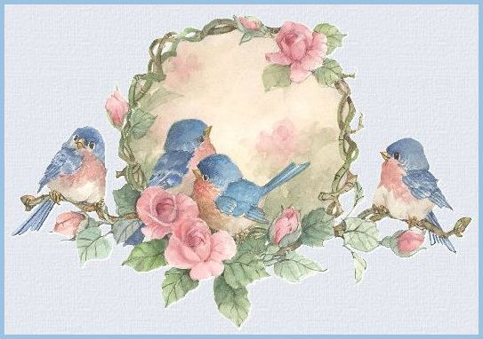 monday greeting pics | At home with Elaine: Blue Monday greetings.