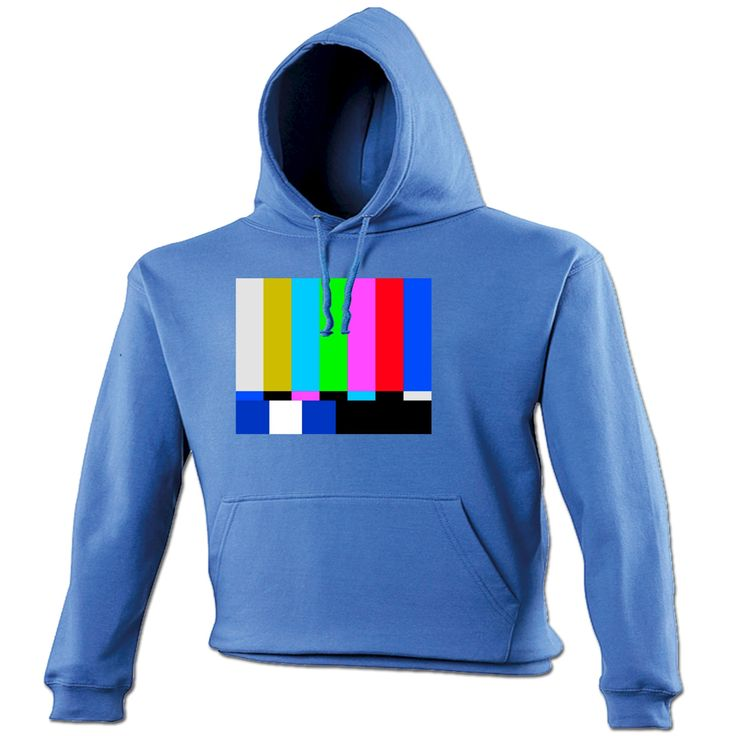 123t USA TV Colour Test … Block Design Funny Hoodie