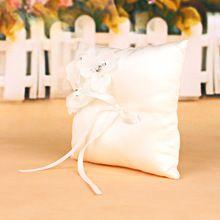 Nouveau Anneau Boîte Romantique boîte à Bijoux Bague De Fiançailles De Mariage Oreiller Porteur Coussin Titulaire Organisateur De Mode Cadeau du Jour de Valentine(China (Mainland))