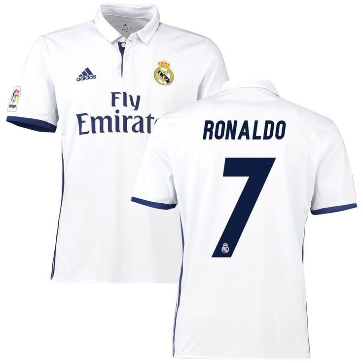 Cristiano Ronaldo Real Madrid adidas 2016/17 Home Replica Jersey - White/Navy