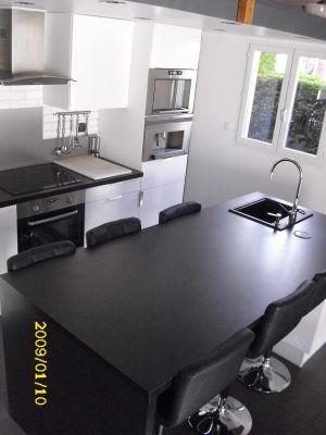Ilot pratique et table de salle manger votre cuisine for Ilot central qui fait table