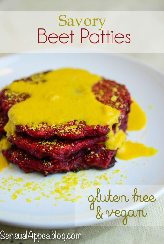 Savory Beet Fritters (Vegan & Gluten-Free) for Virtual Vegan Potluck… –