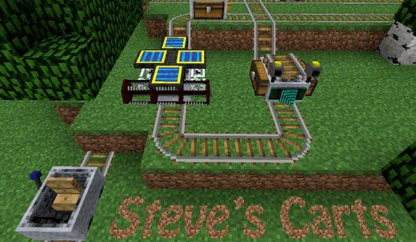 Steve's Carts 2 Mod para Minecraft 1.4.2