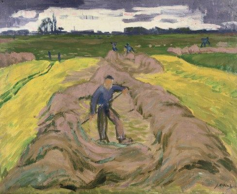 Jan Altink (1885-1971) | Boer in Hooiland: hay making farmers wax, paint on canvas | 20th Century, Paintings | Christie's