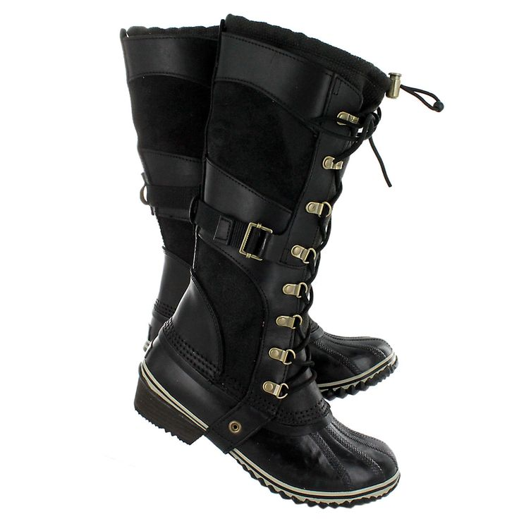 Sorel Women's CONQUEST CARLY black boots 1530881-010