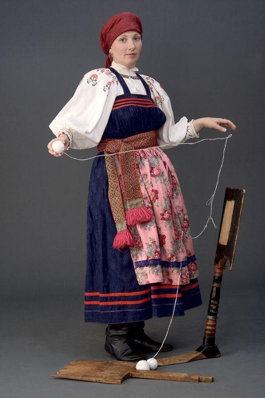 Russian folk costume from Siberia Русский народный костюм в работах Дмитрия Давыдова