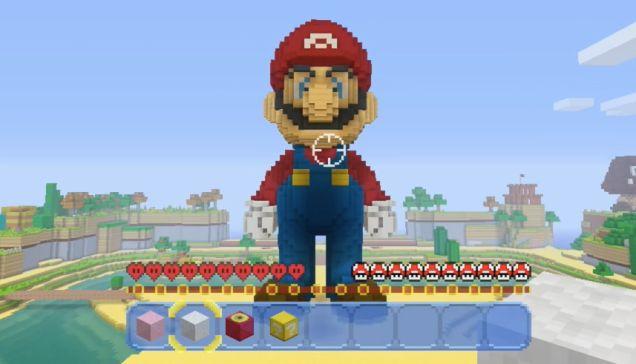 A Look At Minecraft's Official NewMario World -  This Minecraft statue of Mario is different than other Minecraft statues of Mario. Because this one is official. Read more…  Kotaku  http://www.gamesreview.tvseriesfullepisodes.com/a-look-at-minecrafts-official-new-mario-world/