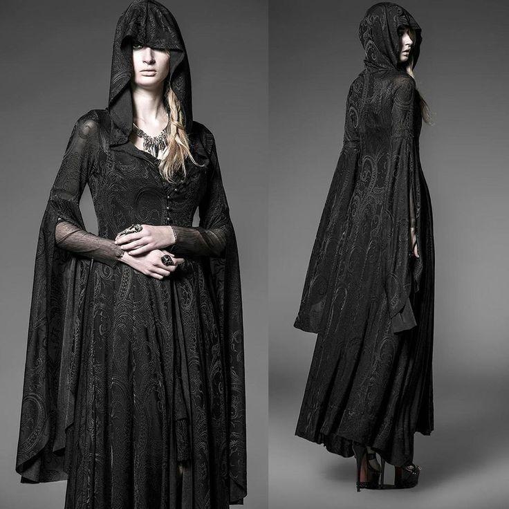 PUNK RAVE Dark Arwen Dress Elbenkleid EDEL ROMANTIC GOTHIC Hexe Witch Wicca in Kleidung & Accessoires, Damenmode, Kleider | eBay