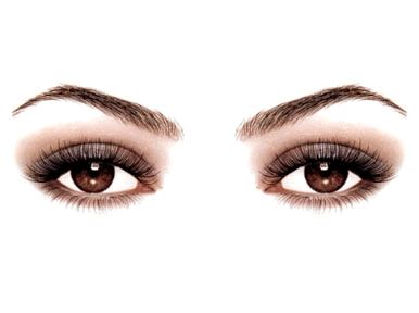 Olho castanho piscando #olhos