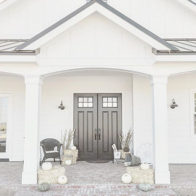1000 ideas about black exterior doors on pinterest for Sherwin williams white exterior paint