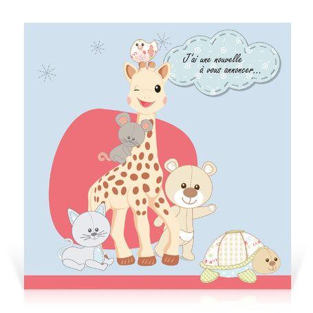 faire part naissance sophie la girafe mes amis. Black Bedroom Furniture Sets. Home Design Ideas