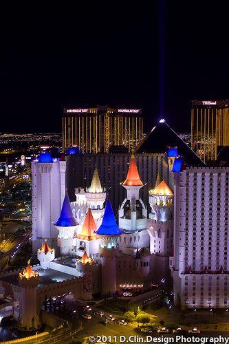Las Vegas Excalibur Casino Nightscape  Leica M9 + Leica 50mm Summilux-M ASPH
