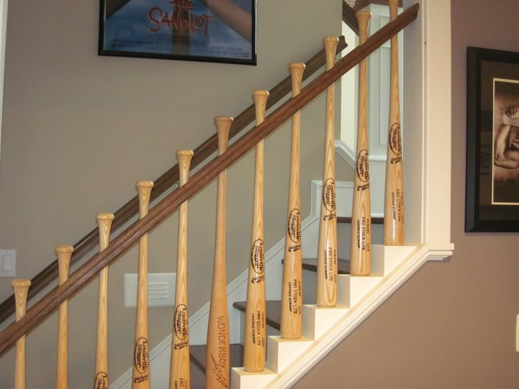 Things You Can Do With a Baseball Bat - Stair Rail
