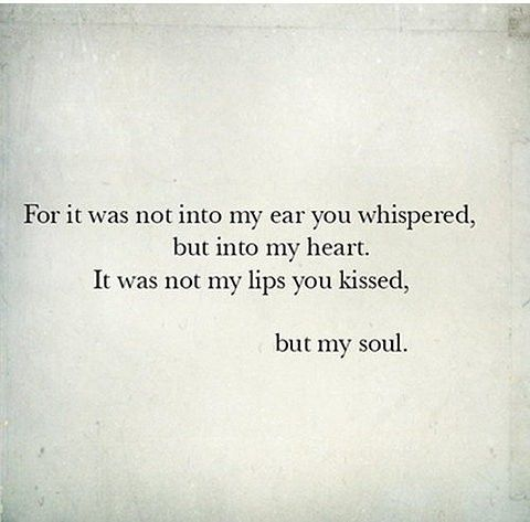 you kissed my soul