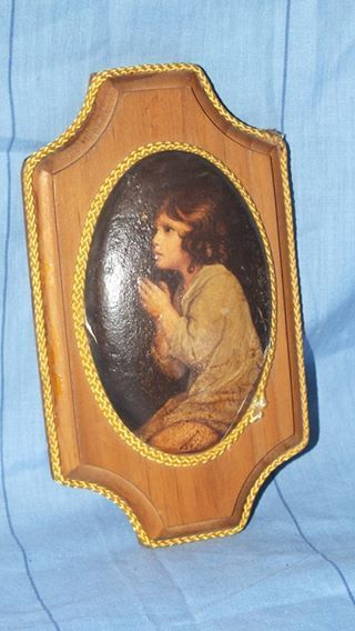 Buy Beautifully painted Girl on Padded part framed by rope and Woodfor R200.00
