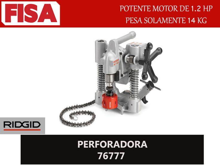 PERFORA 76777 Potente motor de 1.2H.P pesa solamente 14 KG- FERRETERIA INDUSTRIAL -FISA S.A.S Carrera 25 # 17 - 64 Teléfono: 201 05 55 www.fisa.com.co/ Twitter:@FISA_Colombia Facebook: Ferreteria Industrial FISA Colombia