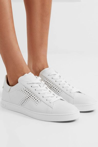 Tod's - Perforated Leather Sneakers - White - IT38.5
