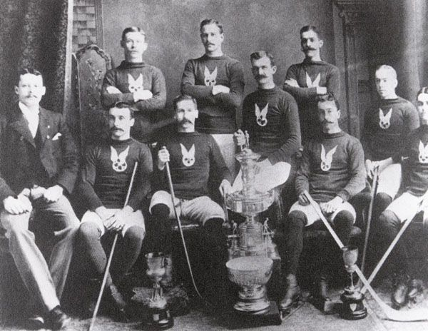 Back in 1893, the Montreal Amateur Athletic Association (MAAA) won the very first Stanley Cup championship.  http://www.collectionscanada.gc.ca/obj/024002/f1/xx010085-v6.jpg