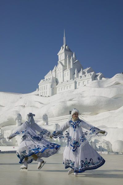 China, Heilongjiang, Harbin, Ice and Snow Festival, Ice Skating Show