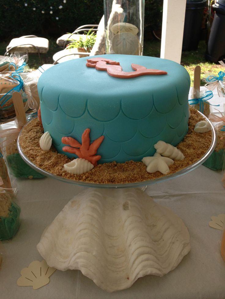 pregnant mermaid baby shower cake by oh happy cakes hawaiibabyshower