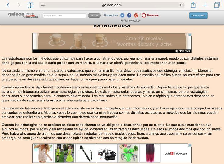 Publicidad en páginas web.
