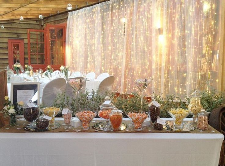 An elegant way to set up a candy buffet 😍 #candybuffet #event #party