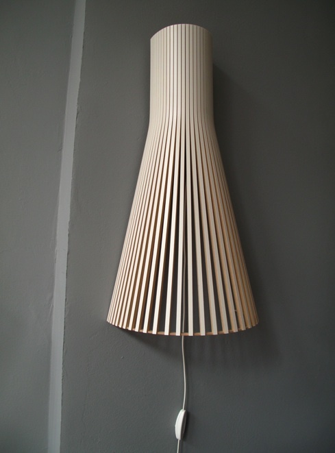 Beautiful wall lighting. Hang it this way or upside down.