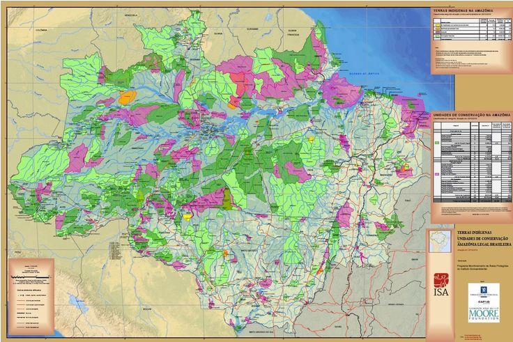 Terras Indígenas e Unidades de Conservação na Amazônia Legal Brasileira - Mapas