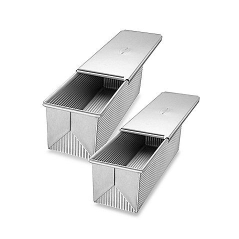 Made of aluminized steel, the thickness of these loaf pans with covers allow even heat distribution and maximum service life. Pans are coated with the silicone coating Americoat Plus.