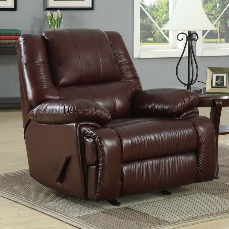 Cascadia leather chaise recliner contemporary recliners