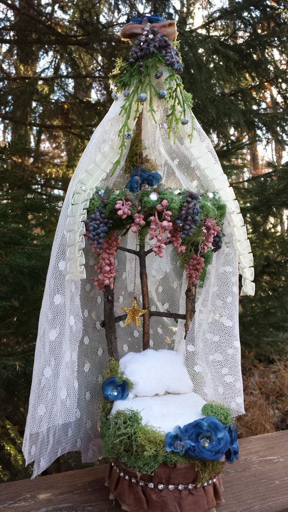 CM says: it's so pretty..Dream a little Dream Handmade Fairy Bed by maryfontones on Etsy, $45.00