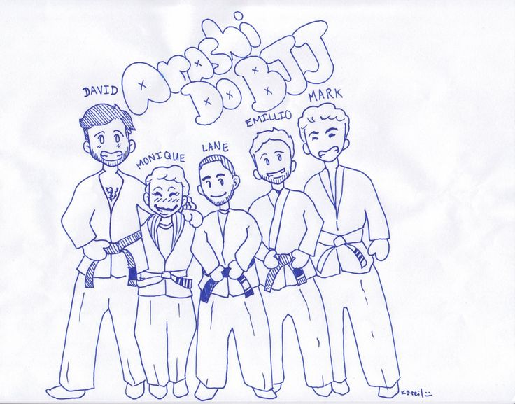 What the BJJ kids are drawing!