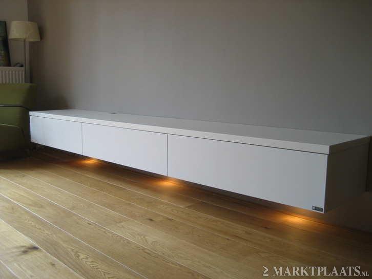 Marktplaats.nl > design lowboard mat wit zwevend van ARTYX op maat - Huis en Inrichting - Kasten   Tv-Meubels