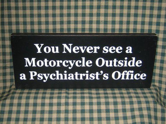 Biker sign funny motorcycles dad bikers by HeritagePrimitives, $11.95