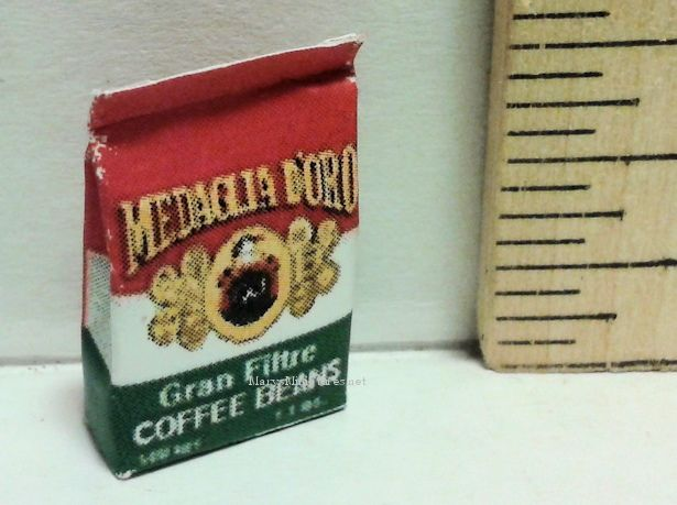 Medaclia D'oro Coffee Beans | Mary's Dollhouse Miniatures