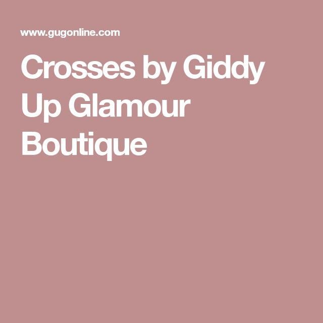 Crosses by Giddy Up Glamour Boutique