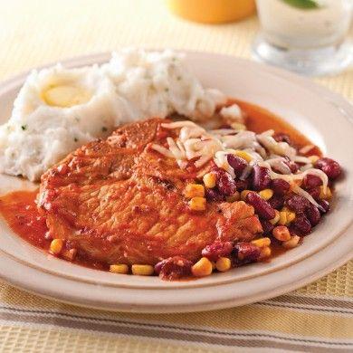 Côtelettes de porc à la mexicaine - Soupers de semaine - Recettes 5-15 - Recettes express 5/15 - Pratico Pratiques