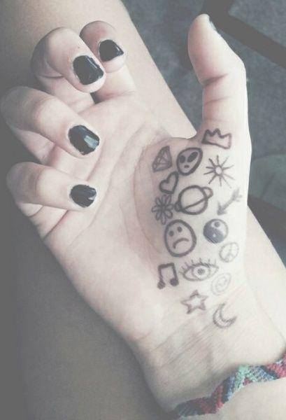 Pale Grunge TattoosTattoo Ideas Sharpie Tattoos