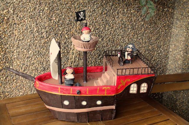 8 ideas de juguetes reciclando materiales: lavadoras con cajas de cartón, barcos piratas, juegos de pesca... ¡qué cosas más chulas!