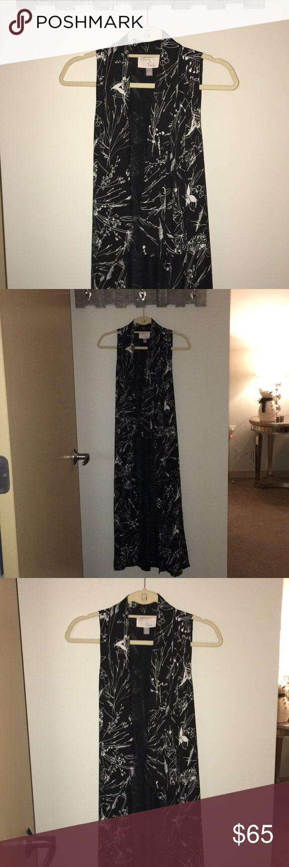 Olivia Palermo's Chelsea 28 Long Shrug Beautiful black and white Floral shrug Chelsea28 Jackets & Coats Vests