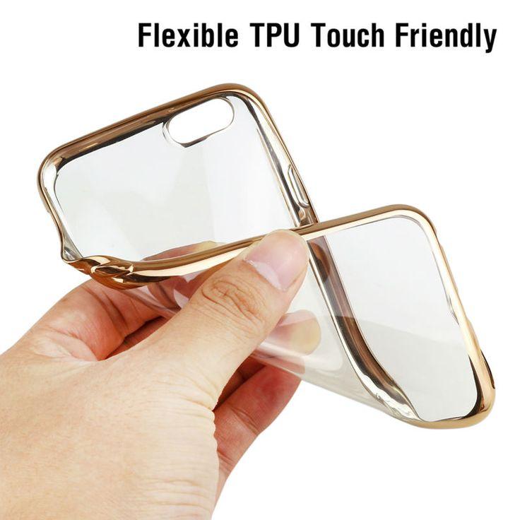 6 6 s 7 phone case untuk iphone 5 5 s 6 s penutup silikon ultra tipis lembut tas transparan tpu telepon kembali penutup untuk iphone 5 s mewah