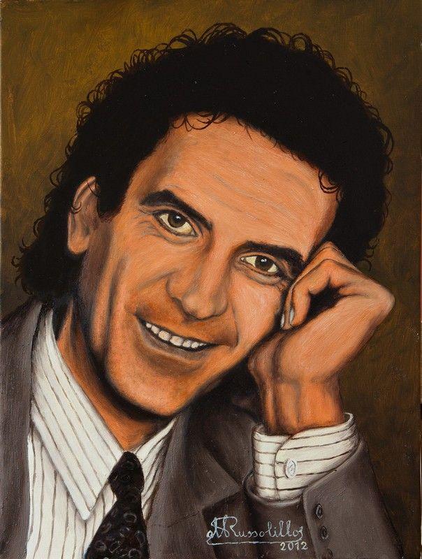 Massimo Troisi -  Olio su tela 30 x 40 cm anno 2010
