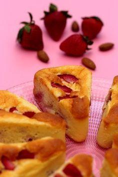 Gâteau léger aux fraises et amandes. 3SP Weight Watchers