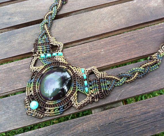 macrame jewelry--etsy.com - Great work for more Wire crochet Ideas Vist my site https://www.etsy.com/il-en/shop/MacrameLoveJewelry