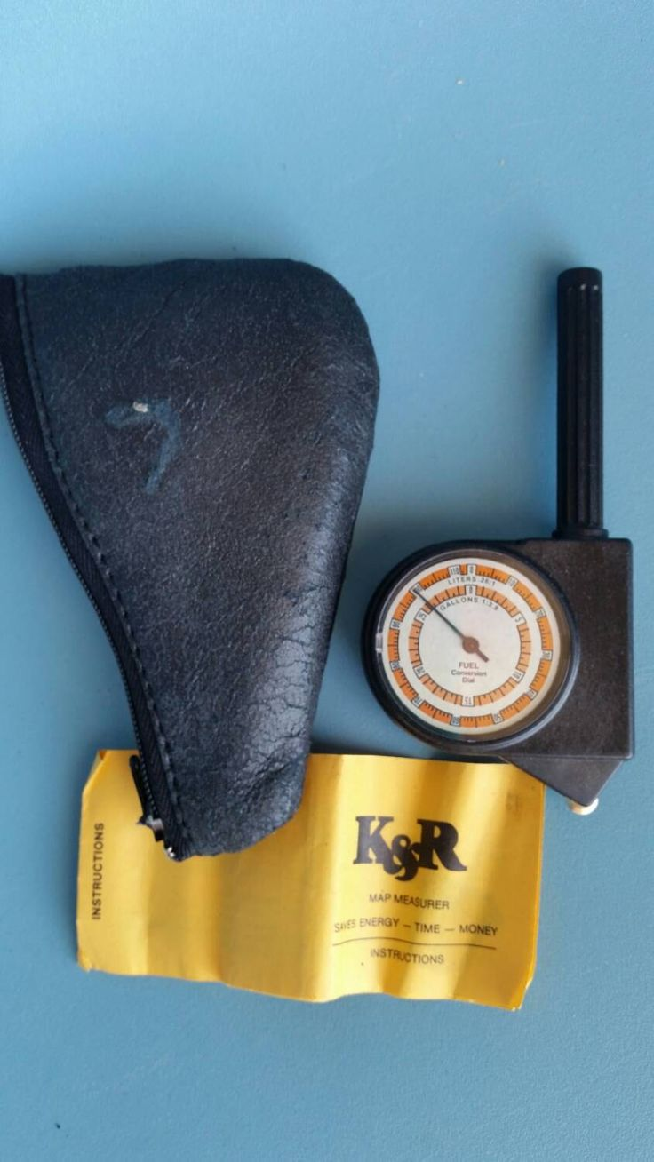How Many Miles?  K & R Rolling Map Measurer; Original Zipper Case and Instructions; Distance Converter by SpruceBox on Etsy