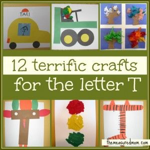 Preschool Crafts for Letter T - The Measured Mom