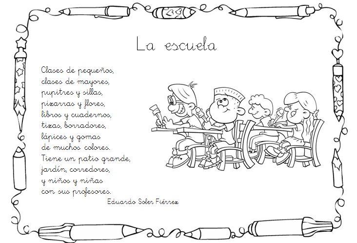 La escuela | poemas | Pinterest